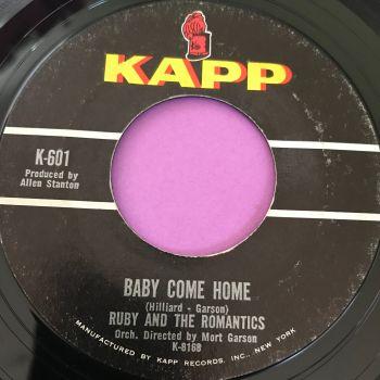 Ruby and Romantics-Baby come home-Kapp E+