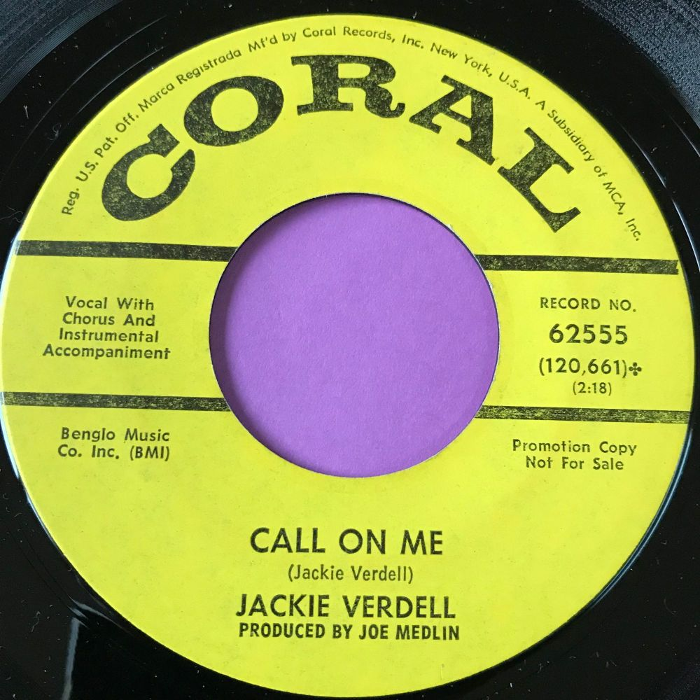 Jackie Verdell-Call on me-Coral Demo M-