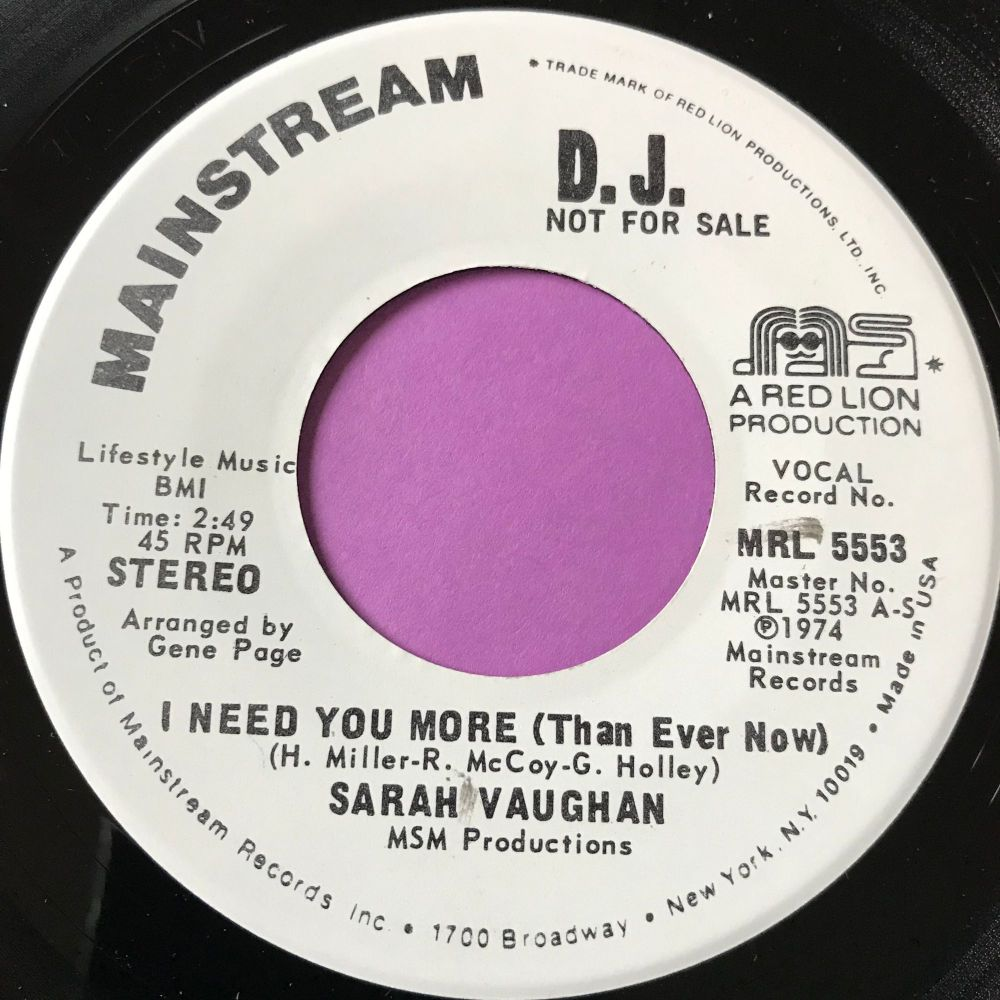 Sarah Vaughn-I need you more than ever-Mainstream WD E+