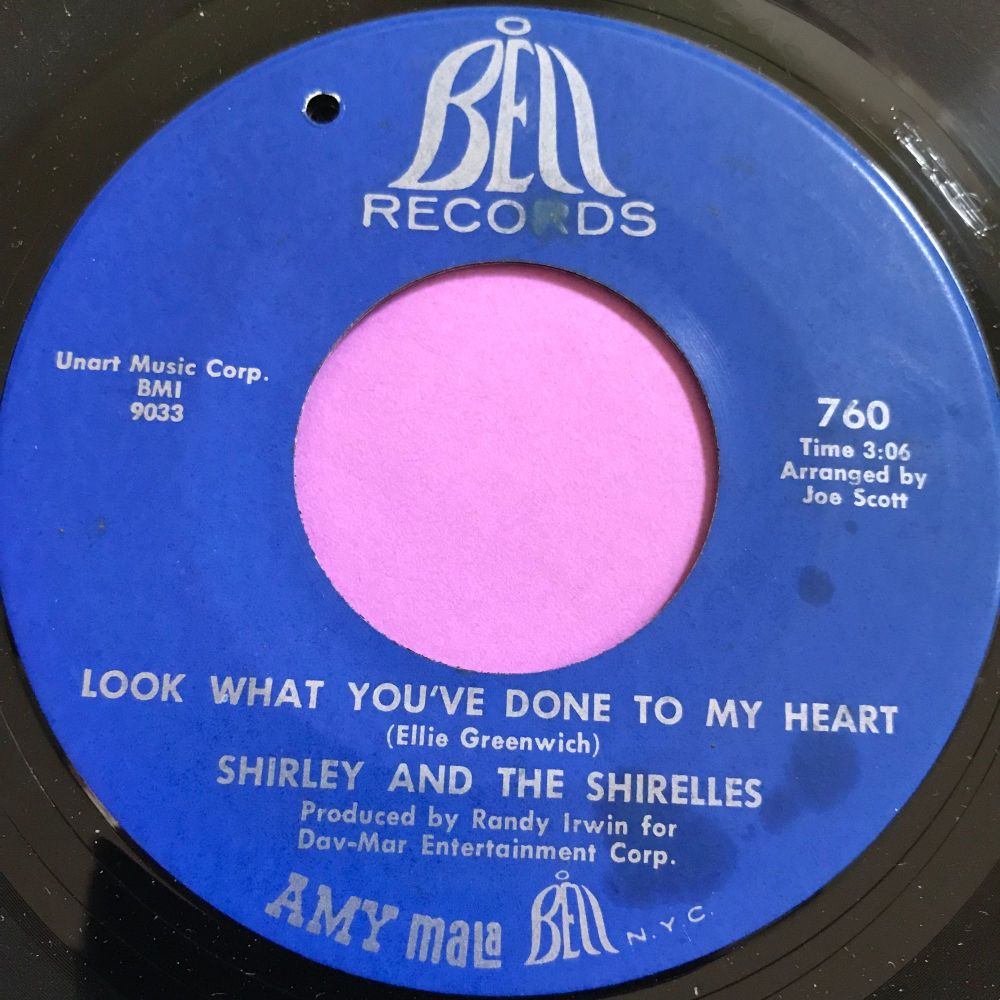 Shirley and the Shirelles-Look what you've done to my heart-Bell E+