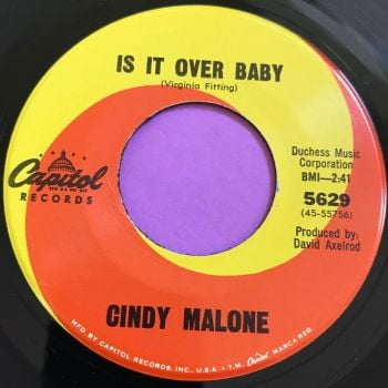 Cindy Malone-Is it over baby-Capitol E+