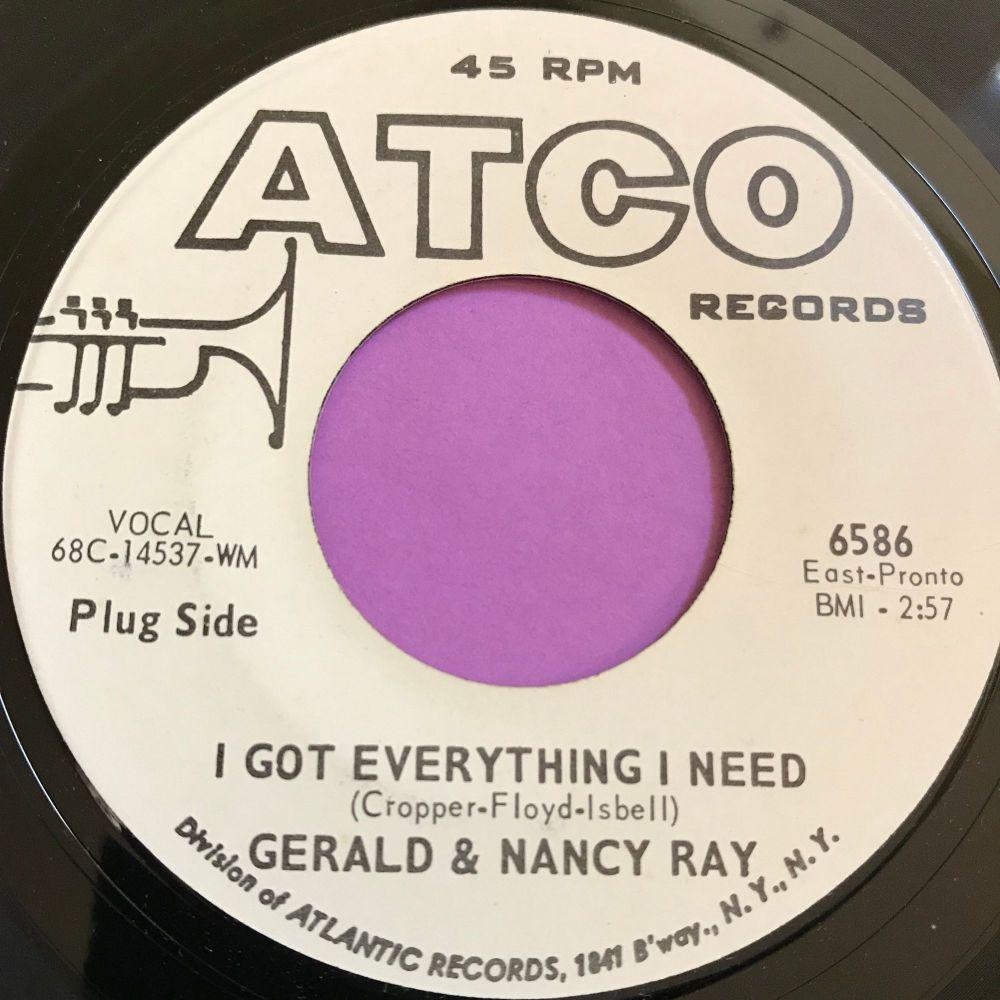 Gerald & Nancy Ray-I got everything I need-Atco WD E+