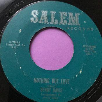 Benny Davis-Nothing but love-Salem vg+