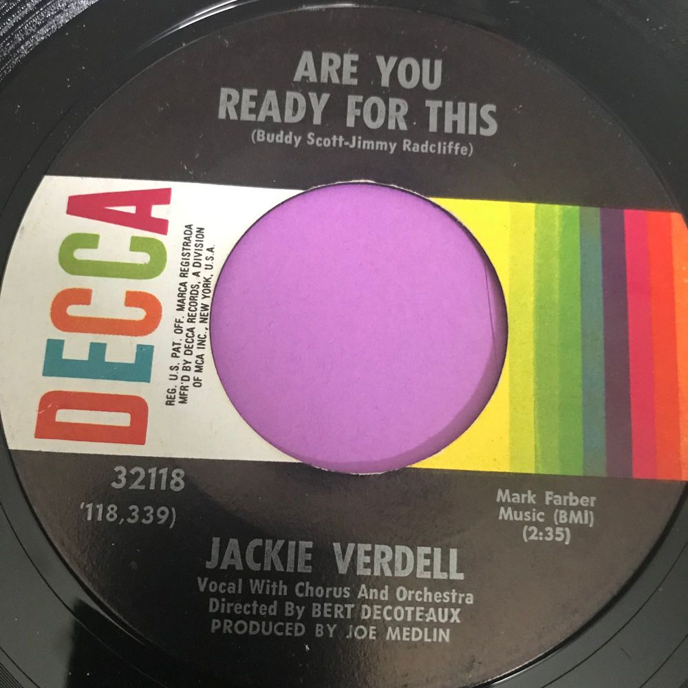 Jackie Verdell-Are you ready for this-Decca E+