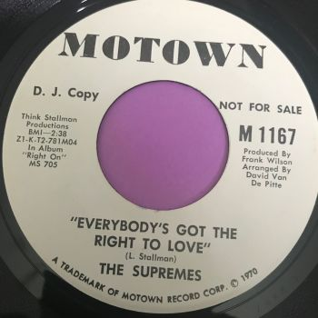 Supremes-Everybody's got the right to love-Motown WD E+
