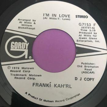 Frankie Kah'rl-I'm in love-Gordy WD E+