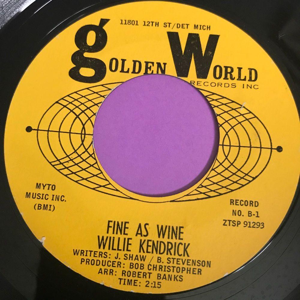 Willie Kendrick-Fine as wine-Golden world E+