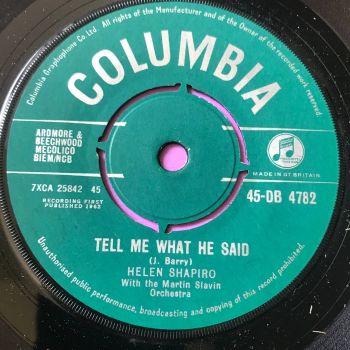 Helen Shapiro-Tell me what he said-UK Columbia E+