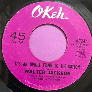 Walter Jackson-It's an uphill climb to the bottom-Okeh E+