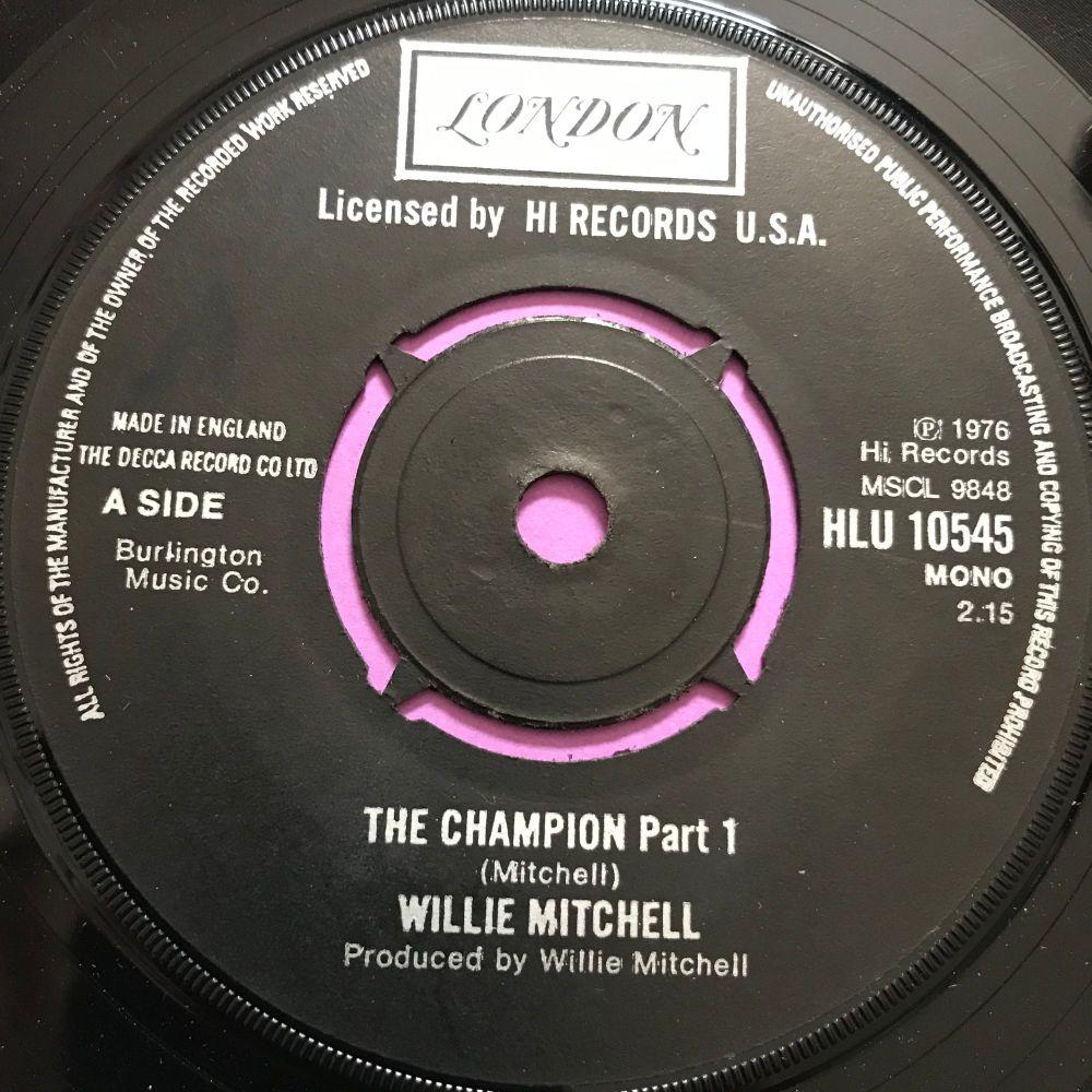Willie Mitchell-The champion wol UK London E+