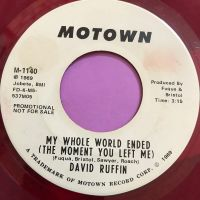 David Ruffin-My whole world ended-Motown WD Red Wax vg+
