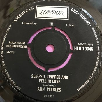 Ann Peebles-Slipped, tripped and fell in love-UK London E+