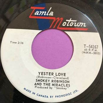 Miracles-Yester Love-Canadian Tamla Motown M-
