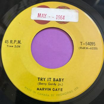 Marvin Gaye-Try it baby-Canadian Tamla stkr E+