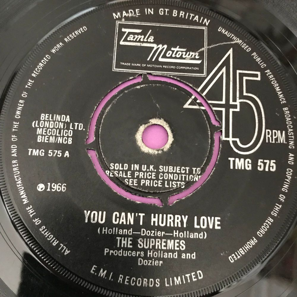 Supremes-You can't hurry love-TMG 575 vg+