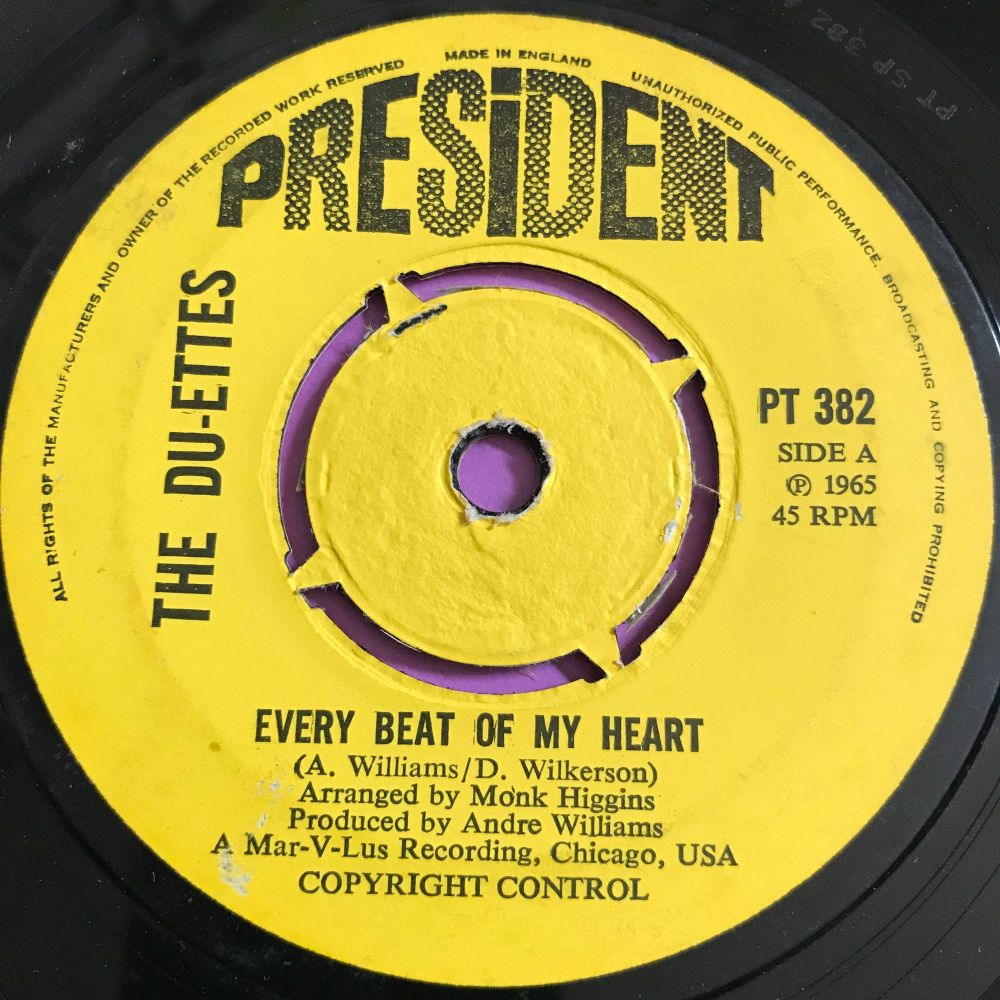 Du-Ettes-Every beat of my heart-UK President E+