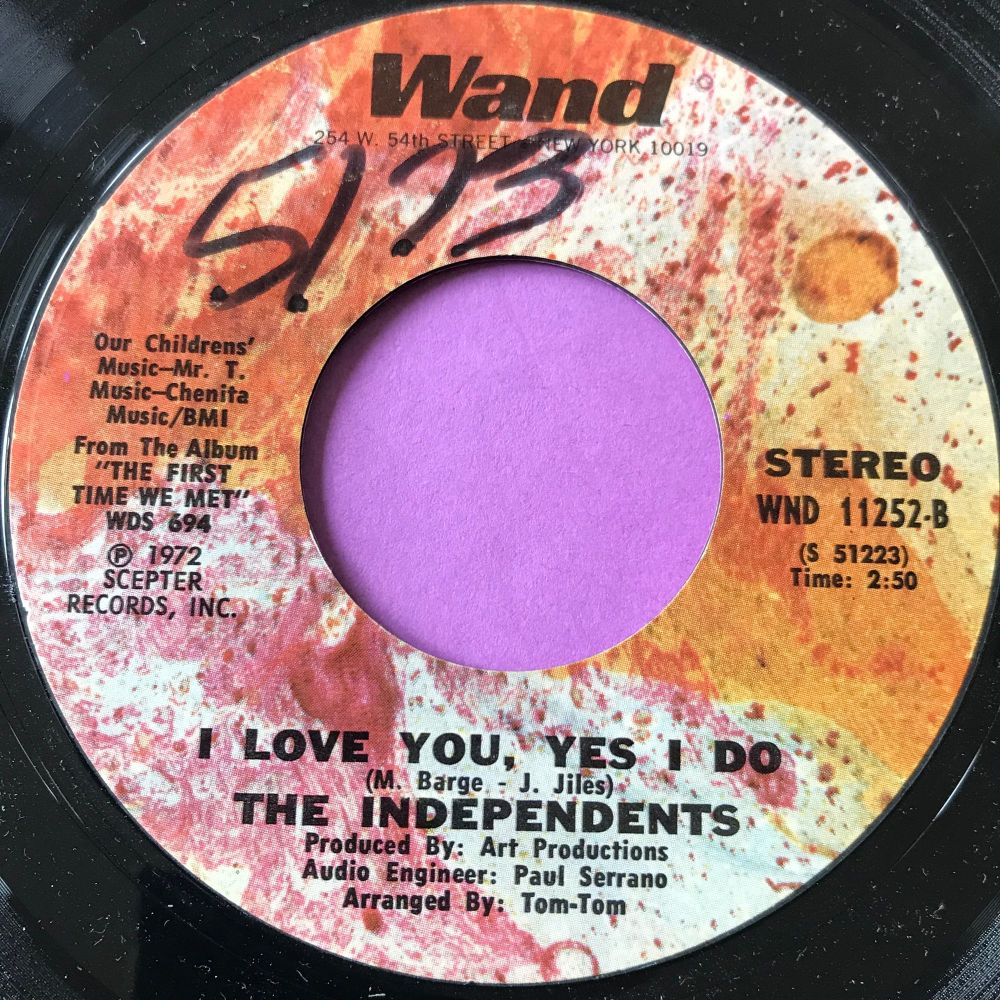 Independents-I love you yes I do-Wand wol E
