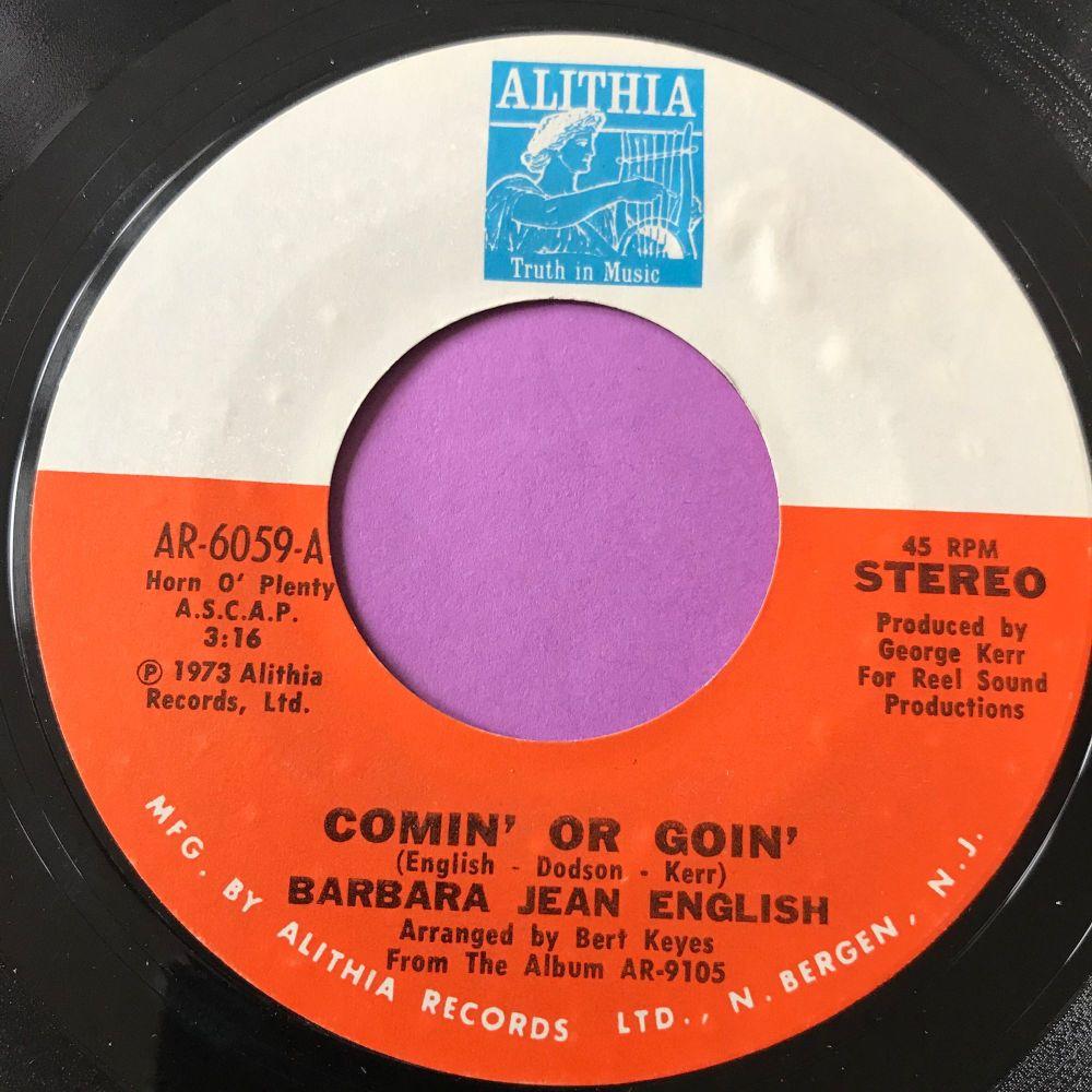 Barbara Jean English-Comin' or goin'-Althia E+