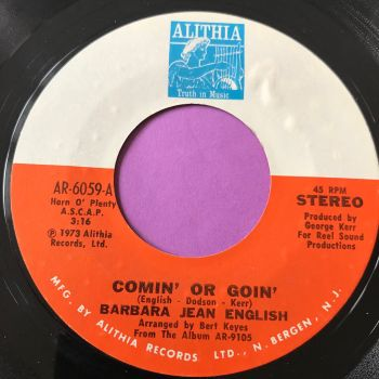 Barbara Jean English-Comin' or goin'-Althia E+