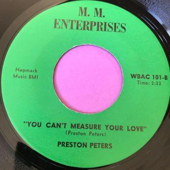 Preston Peters-You can't measure your love-M.M Enterprises E+
