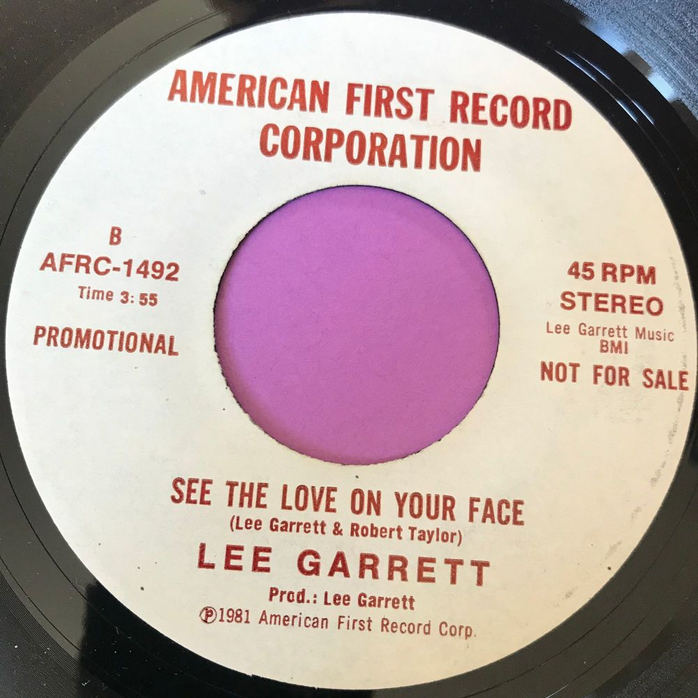 lee Garrett-See the love on your face-American first E+