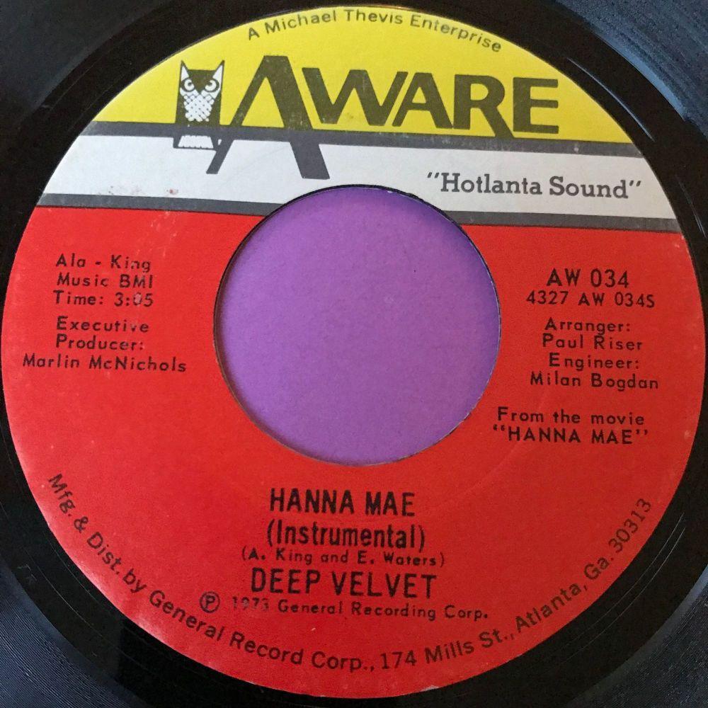 Deep Velvet-Hanna Mae-Aware M-