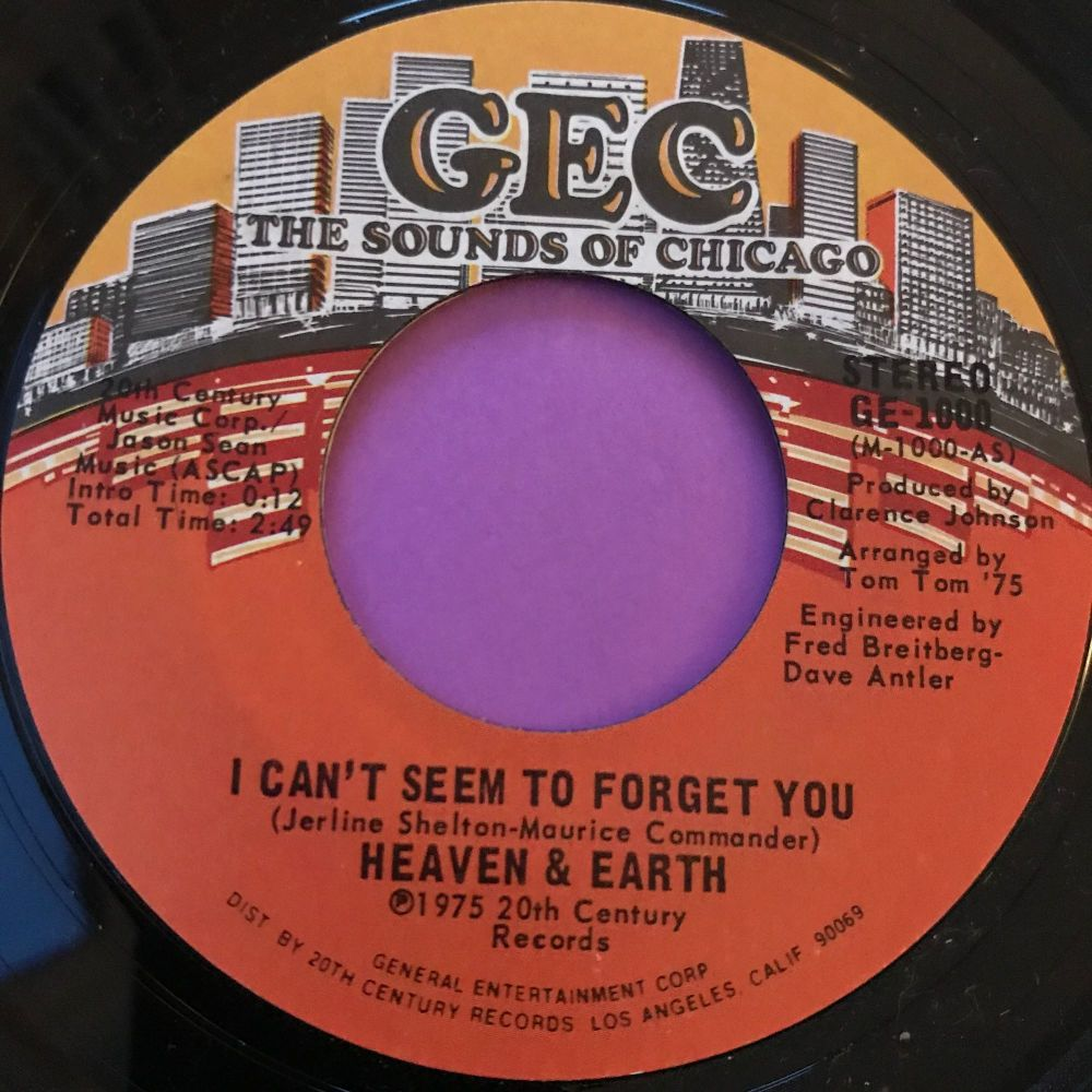 Heaven & Earth-I can't seem to remember your name/ Promises-GEC E+