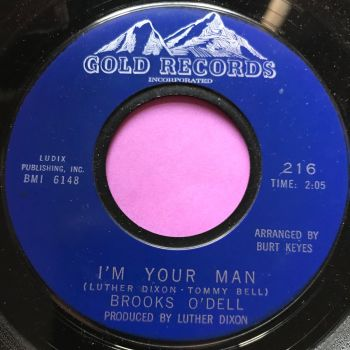 Brooks O'Dell-I'm your man-Gold records E+