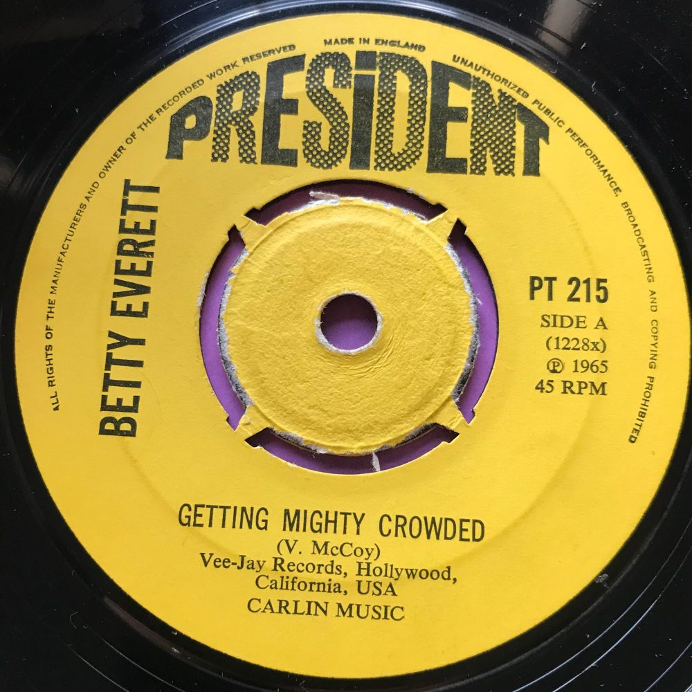 Betty Everett-Getting mighty crowded-UK President E