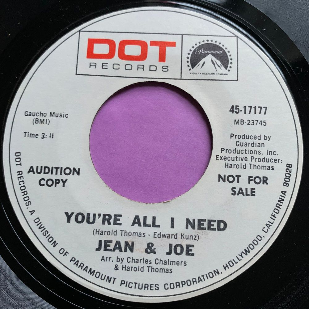 Jean & Jo-You're all I need-Dot Demo M-