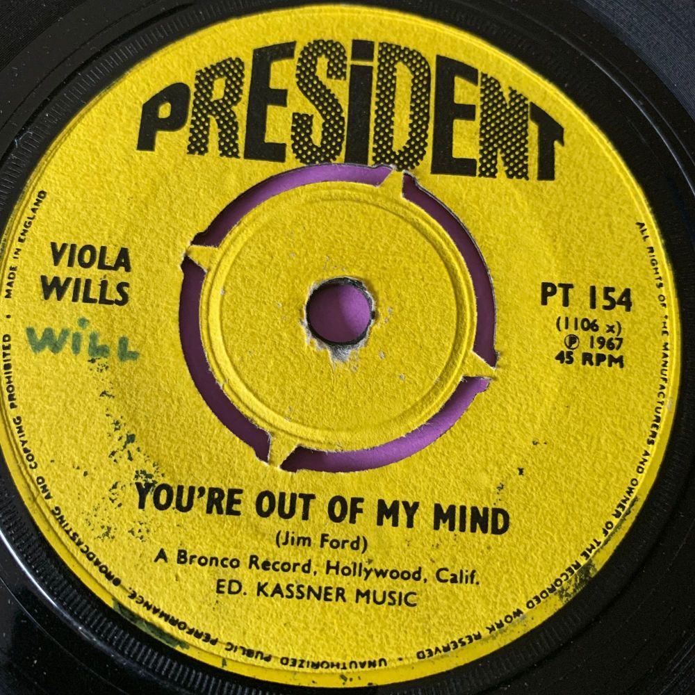 Viola Wills-You're out of my mind-UK President vg+