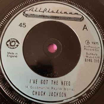 Chuck Jackson-I've got the need-UK All platinum E+