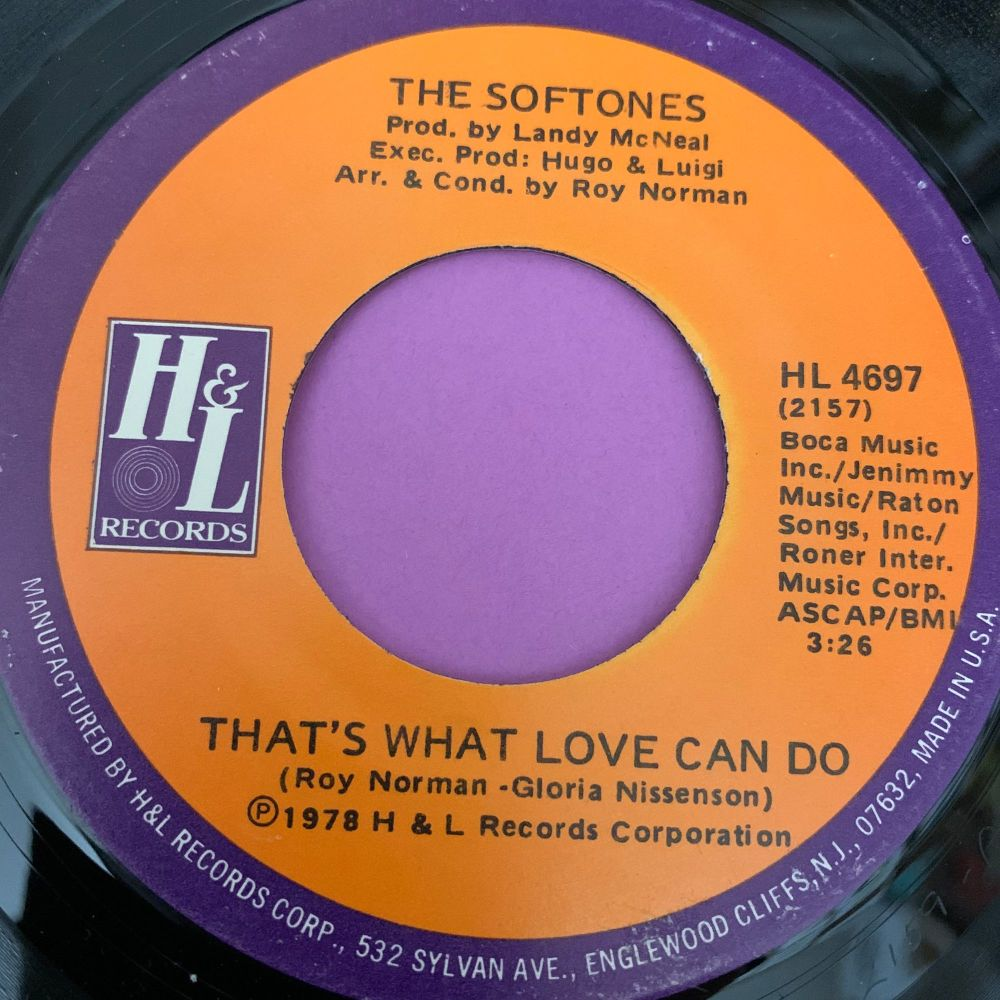 Softones-That's what love can do/ Sweet dreamer-H&L E+