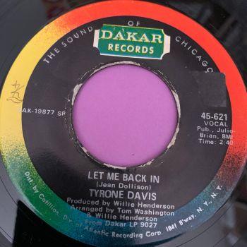 Tyrone Davis-Let me back in-Dakar E+