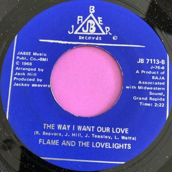 Flame and the Lovelights-The way I want our love-Jaber M-