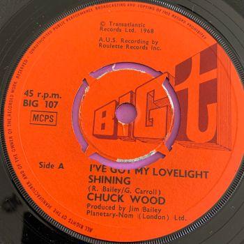Chuck Wood-Baby you win/ I've got my lovelight shining-UK Big  t E+