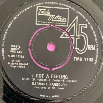 Barbara Randolph-I got a feeling-TMG 1133 E+