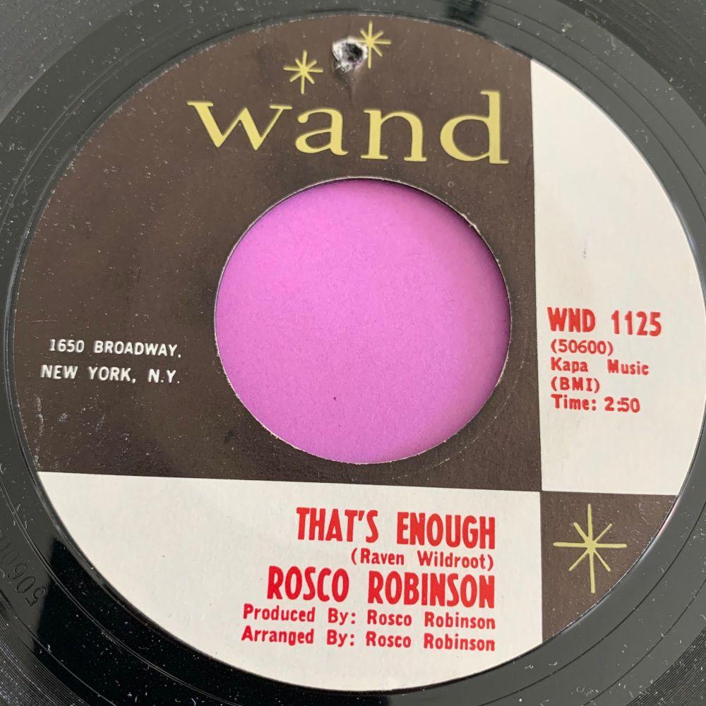 Rosco Robinson-That's enough-Wand E+