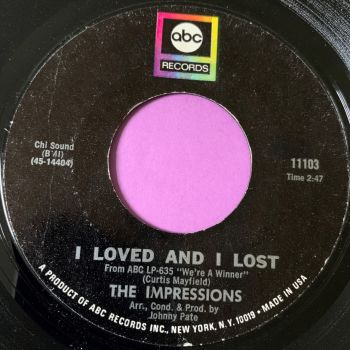 Impressions-I loved and I lost-ABC E+