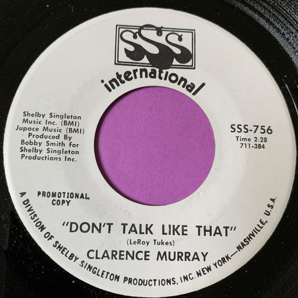 Clarence Murray-Don't talk like that-SSS Int. WD E+