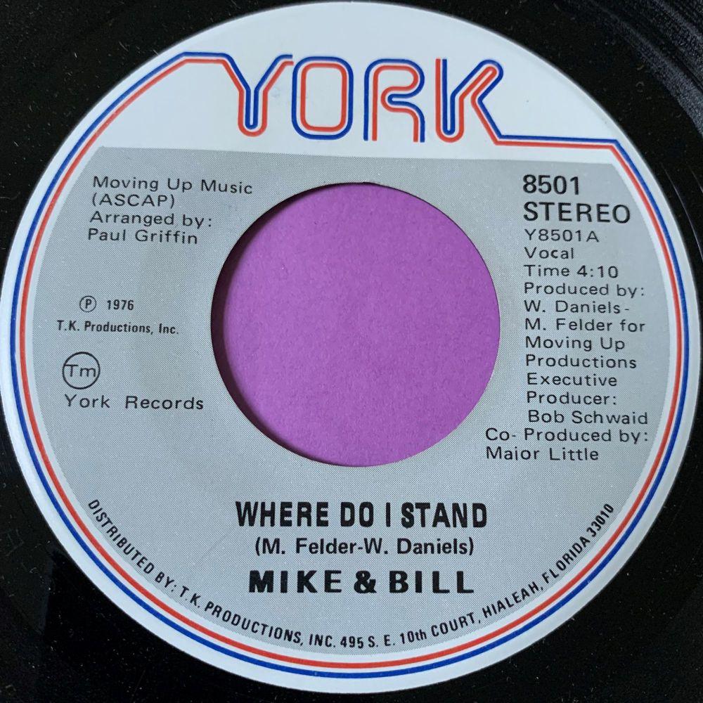 Mike & Bill -Where do I stand-York E+