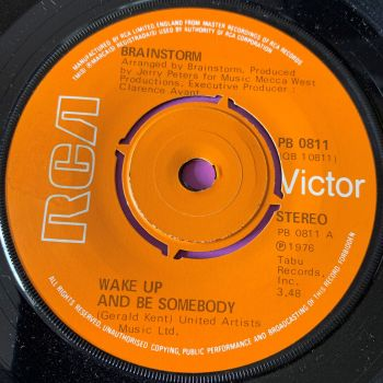 Brainstorm-Wake up and be somebody- UK RCA E+