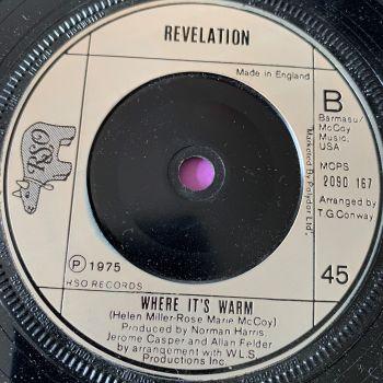 Revelation-Where it's warm-UK RSO E+