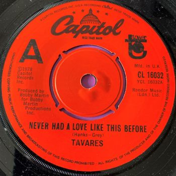Tavares-Never had a love like this before-UK Capitol E+