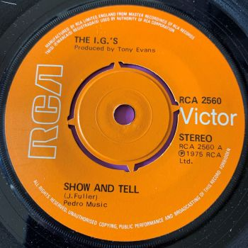 I.G's-Show and tell-UK RCA E+