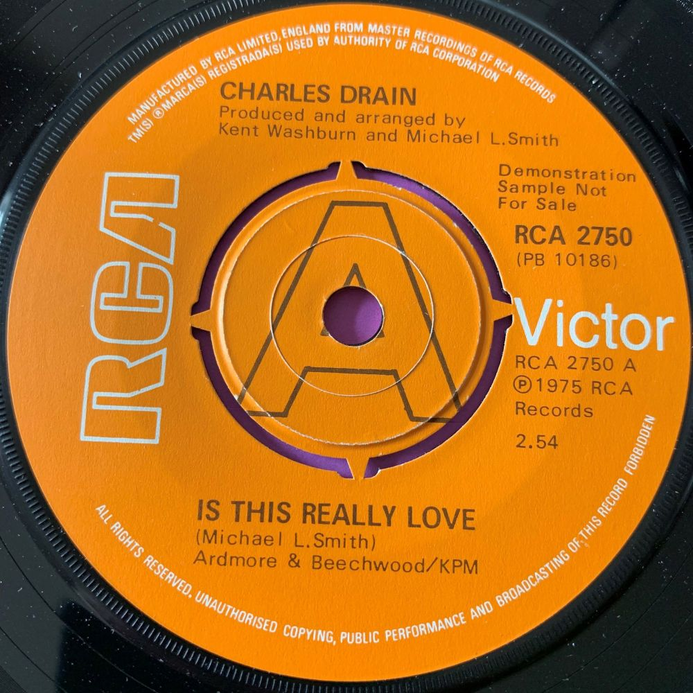 Charles Drain-Is this really love-UK RCA Demo E+