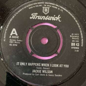 Jackie Wilson-It only happens when I look at you-UK Brunswick E+