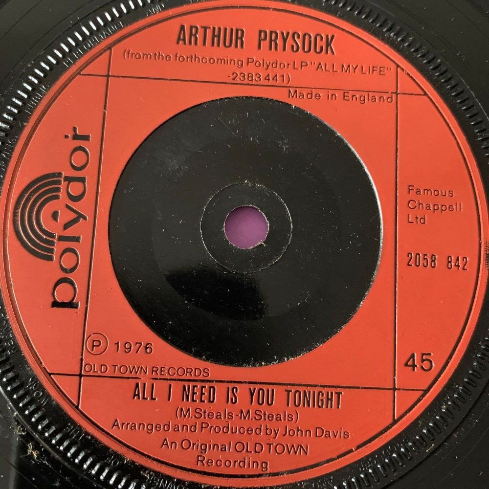 Arthur Prysock-All I need is you tonight-UK Polydor E+