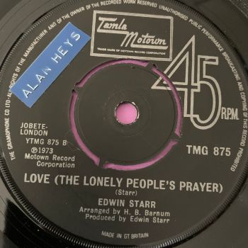Edwin Starr-love the lonely people's prayer-TMG 875 stkr E+