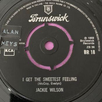 Jackie Wilson-I get the sweetest feeling-UK Brunswick stkr E+